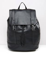 Рюкзак с металлическими застежками ASOS - Черный
