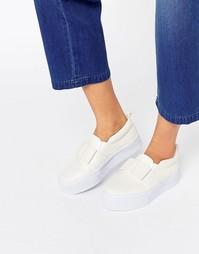 Кроссовки на плоской платформе ASOS DARCY - Белый
