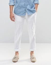 ASOS Skinny Trousers In White Linen - Белый