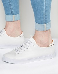 ASOS Trainers in White With Toe Cap - Белый