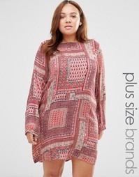 Цельнокройное платье с платочным принтом Diya Plus - Мульти