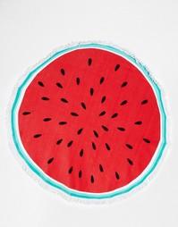 Круглое пляжное полотенце в виде арбуза South Beach - Красный