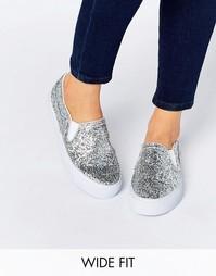 Кроссовки для широкой стопы ASOS DULCIE - Блестящий