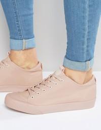 Розовые кеды на шнуровке ASOS - Розовый