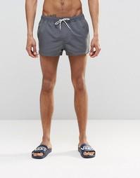 Серовато-стальные суперкороткие шорты для плавания ASOS - Серый