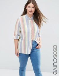 Рубашка в разноцветную полоску ASOS CURVE - Мульти