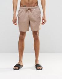Коричневые шорты для плавания с эффектом кислотной стирки ASOS