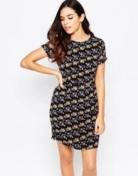 Цельнокройное платье с цветочным принтом Poppy Lux Odette