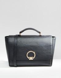 Портфель с металлическим замочком ASOS - Черный