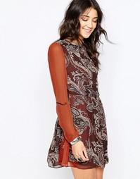 Короткое приталенное платье Glamorous - Dark brown