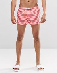 Короткие шорты в красную полоску Swells - Красный