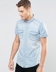 Светлая джинсовая рубашка с короткими рукавами Esprit - Светлый