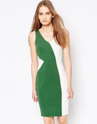 Платье с контрастной вставкой Daisy Street - Зеленый