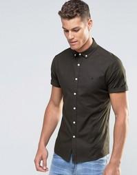Оксфордская рубашка скинни цвета темного хаки ASOS - Темный хаки