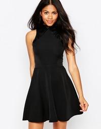 Короткое приталенное платье с контрастной отделкой Daisy Street