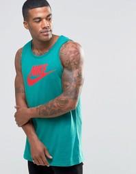 Зеленая майка Nike Futura 729833-351 - Зеленый
