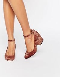 Туфли на каблуке ASOS SWEET - Шоколадный