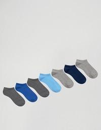 7 пары синих и серых спортивных носков ASOS - Мульти