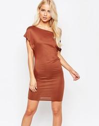 Платье с открытыми плечами TFNC - Коричневый