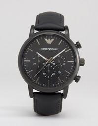 Часы-хронограф с силиконовой отделкой Emporio Armani Luigi AR1970