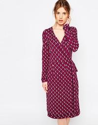 Платье с запахом и геометрическим цветочным принтом Uttam Boutique
