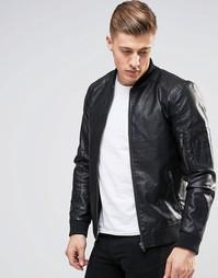 Куртка-пилот из искусственной кожи Produkt - Черный