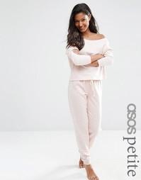 ASOS PETITE LOUNGE Marl Jersey Jogger - Розовый меланж