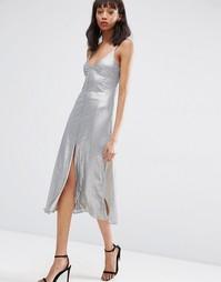 Платье миди с пайетками ASOS NIGHT - Серый