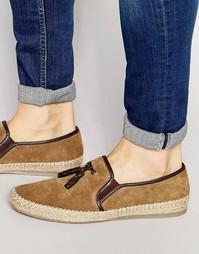 Замшевые туфли-слипоны с кисточками Dune - Рыжий