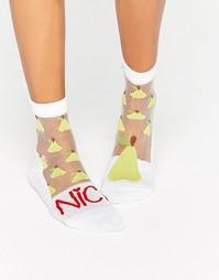 Прозрачные носки ASOS Nice Pear - Белый