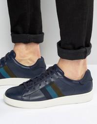 Кроссовки с полосками Paul Smith - Темно-синий
