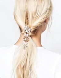 Krystal Swarovski Crystal Floral Swinging Hair Comb with Pearls