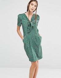 Платье с цветочным принтом Trollied Dolly ItS Bowtime - Зеленый