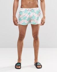 Бирюзовые короткие шорты Swells - Розовый