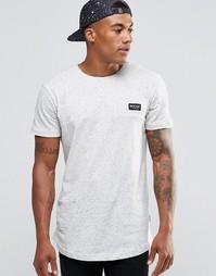 Крапчатая футболка с закругленным низом Nicce London - Stone