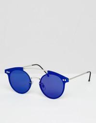 Круглые солнцезащитные очки с цветными стеклами Spitfire - Серебряный