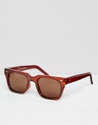Солнцезащитные очки в квадратной оправе Spitfire - Коричневый