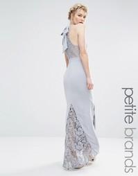 Платье-халтер макси с кружевным верхом Jarlo Petite - Серый