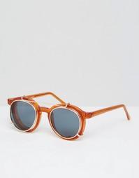 Круглые солнцезащитные очки со съемными линзами Spitfire - Коричневый