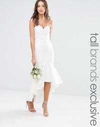 Платье миди бандо Jarlo Tall - Белый