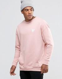 Свитшот с заниженной линией плеч Good For Nothing - Розовый