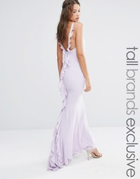 Платье макси с оборкой сзади Jarlo Tall - Mauve