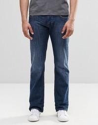 Умеренно выбеленные джинсы с клешем Diesel Zatiny 855L