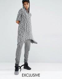 Трикотажные штаны с заниженным шаговым швом Bones - Серый сланец
