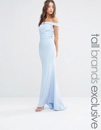 Платье макси с открытыми плечами Jarlo Tall - Нежно-голубой