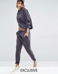 Спортивные штаны с заниженным шаговым швом Bones - Mink