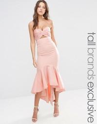 Платье миди бандо Jarlo Tall - Телесный