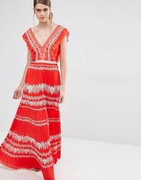 Шифоновое платье с цветочным принтом Self Portrait