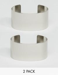 2 браслета-манжета в минималистском стиле ASOS - Родий