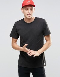 Меланжевая футболка HUF - Черный